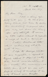 Letter from Oliver Johnson, [New York], to Samuel May, April 20, 1887