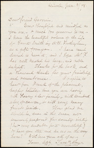 Letter from Samuel May, Jr., Leicester, [Mass.], to William Lloyd Garrison, Jan[uary] 3 / [18]78