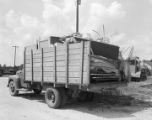 Belongings of Will Brewster packed on a truck in Maplesville, Alabama.