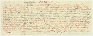 Denunciation of the Comte de St. Laurent, a Cerneau follower, after 1838
