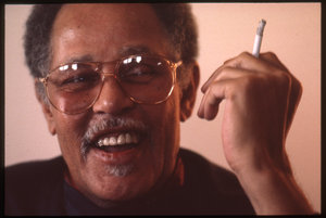 Dexter Gordon holding a cigarette