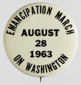 Pin-back button for the 1963 March on Washington
