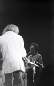 Miles Davis in performance: Miles Davis with trumpet