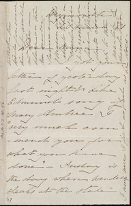 Thumbnail for Letter from Deborah Weston, Weymouth, [Mass.], to Maria Weston Chapman, 20 March [18]61