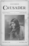 November Crusader; Onward for Democracy; Upward with Race; [Miss Evelyn Ellis of the Lafayette players; Vol. 1, No. 3; November 1918; Cover page.]