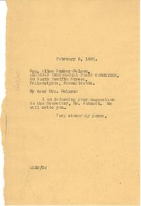 Letter from W. E. B. Du Bois to Alice Dunbar-Nelson