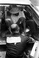 "James Meredith in the passenger's seat of a car during the ""March Against Fear"" through Mississippi."