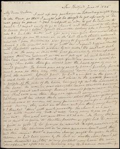 Letter from Anne Warren Weston, New Bedford, [Mass], to Deborah Weston, June 16, 1836