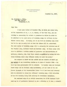 Letter from Emmett J. Scott to Berkeley A. Mills