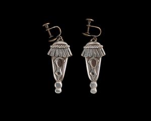 Silverplate earrings designed by Winifred Mason Chenet