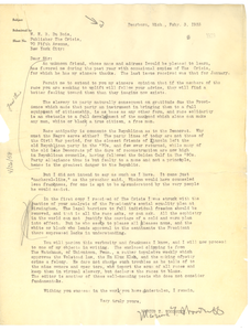 Letter from Marcus T. Woodruff to W. E. B. Du Bois