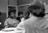 Women attending meeting.