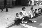 Spectators at Easter parade, Los Angeles, 1986
