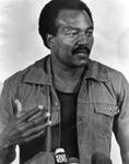 Jim Brown talks to the press