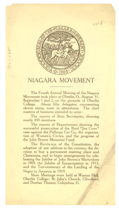 Report of the 1908 annual meeting of the Niagara Movement