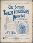 The sermon Deacon Vanderwater preached