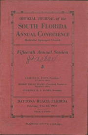 Official Journal of the South Florida Annual Conference, Methodist Episcopal Church, Fifteenth Annual Session