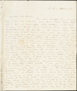 Letter from Sophia Davenport, St. Louis, [Missouri], to Caroline Weston, March 5