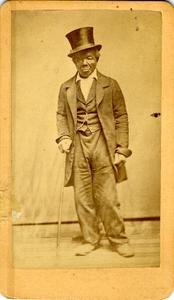 Studio portrait of Johnny Williams, ca. 1865