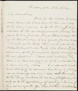 Letter from Lucretia Mott, Philad[elphi]a, [Penn.], to Anne Warren Weston, 11 mo[nth] 18th [day] 1853