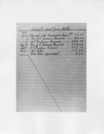 Mississippi State Sovereignty Commission image of a page from a handwritten ledger listing payments received, Mississippi, 1953