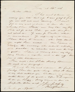 Letter from Henry Grafton Chapman, Boston, [Mass.], to Maria Weston Chapman, 14 Sep. 1836