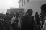 Albert Brewer greeting supporters at a campaign rally in Tuskegee, Alabama.