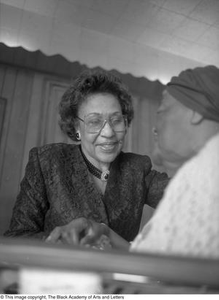 Tiny Hawkins and unidentified woman Dallas/Fort Worth Black Living Legends Dallas/Fort Worth Black Living Legends, 1991