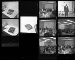 Set of negatives by Clinton Wright including Boy Scouts at Highland School, Tony Wright, Carl Wright, Jo Mackey PTA, and a fishing trip, 1967