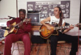 Johnny Shines and Kent DuChaine performing at Old Alabama Town during the 1991 Alabama Folklife Festival in Montgomery, Alabama.