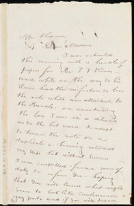 Letter from William Cooper Nell, Boston, [Mass.], to Maria Weston Chapman, April 3rd, 1840