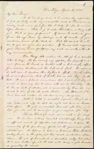Letter from William Lloyd Garrison, Brooklyn, [Conn.], to George William Benson, April 10, 1836