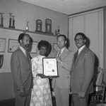 Shirley Chisholm Awarded, Los Angeles, 1972
