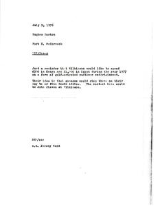 Memorandum from Mark H. McCormack to Hughes Norton