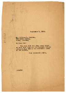 Letter from W. E. B. Du Bois to William H. Dinkins