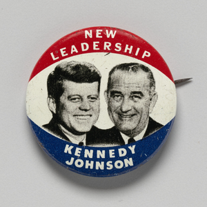 Pinback button for Kennedy - Johnson 1960 presidential campaign