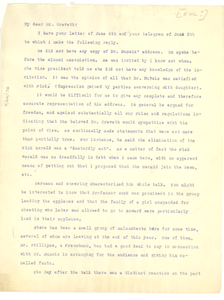 Letter from Fayette A. McKenzie to Paul D. Cravath