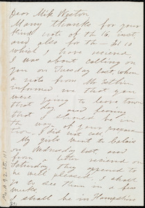 Letter from William Wells Brown, [England], to Miss Weston, August 19, 1851