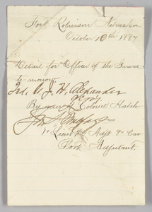 Officer of the Guard order issued to John H. Alexander