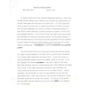 Executive Directors report, May 26, 1977.