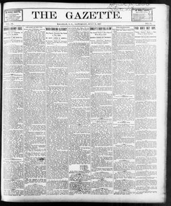 The Gazette. (Raleigh, N.C.), Vol. 9, No. 24, Ed. 1 Saturday, July 31, 1897 The Gazette The Weekly Gazette