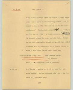 News Script: Senator Jordan NBC News Scripts