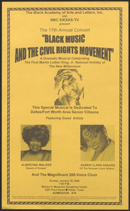 Flyer: Black Music and the Civil Rights Movement