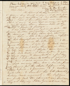 Letter from Caroline Weston, Boston, [Mass.], to Deborah Weston, Friday night, [1836?]