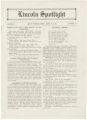 Lincoln Spotlight, Volume 3, Number 14, Lincoln High School, Esko's Corner, Minnesota