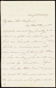 Letter from Isabel Jennings, [Cork, Ireland?], to Maria Weston Chapman, August 2, 1847