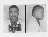 Mississippi State Sovereignty Commission photograph of Leon N. Rice following his arrest for his participation in the Freedom Rides, Jackson, Mississippi, 1961 June 16