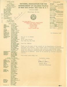 Letter from Donald Jones to W. E. B. Du Bois