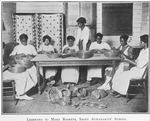 Learning to make baskets; Saint Athanasius' School; [Brunswick, Georgia.]