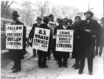 [NAACP pickets at the Crime Conference, Wash., DC, picketing against the practice of lynching, Dec. 11, 1934]